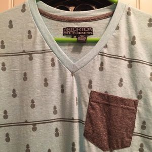 Men's pineapple print shirt